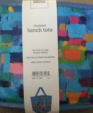 ~NEW~Insulated Lunch Tote 6.5 Cube New. Multi Color~FREE SHIPPING
