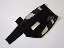 NWT Not Your Daughter's Jeans Aiden in Black Faux Leather Panel Legging Jeans 2P