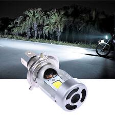 LED Motorcycle Headlight H4 Hi Lo 20W 2000LM M4-H4 HS1 COB Headlamp 6500K White
