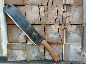 "ESEE Libertariat Machete Fixed Knife 9"" 1075 Steel Full Tang Blade Walnut Handle"
