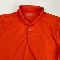 Nike Golf Tour Performance Polo Shirt Men's Small Short Sleeve Orange Polyester