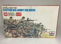 ESCI ERTL #207 1/72 Scale World War British 8th Army Soldiers 50 Miniatures WWII