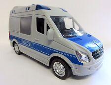 großes Polizeiauto Polizeibus mit Licht, Sound + Sirene, 4 Funktionen + Friktion
