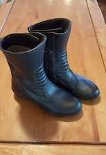 TOURMASTER Mens Size 11 Road Boots Motorcycle Waterproof Solution Moto Black