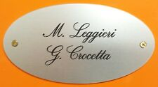 Targa Targhetta Porta ufficio ALLUMINIO colore Argento personalizzata INCISA