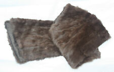 """Quality Fine Antique Vintage Ladies Mink Stole or Wrap Silk Lined and Shaped 72"""""""