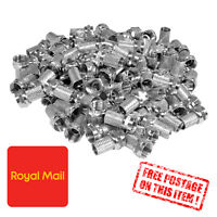 10x Screw Twist F-Connector 6.8 mm To Fit Satellite TV Aerial Coax Coaxial Cable
