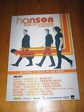 HANSON - 2017  Australian Tour - Laminated Promotional Poster