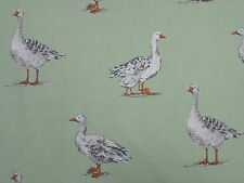 Clarke and Clarke Geese Birds Sage Designer Curtain Upholstery Craft Fabric