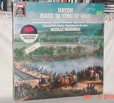 HAYDN MASS IN TIME OF WAR 33LP 1986 NEVILLE MARRINER EMI DIGITAL DRESDEN VGOOD