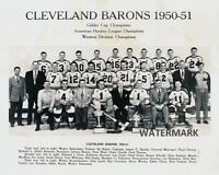 50 - 51 AHL Calder Cup Champion Cleveland Barons Team Black White 8 X 10 Photo