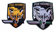 "Metal Gear Fox Hound Special Forces (Set of 2) 3 3/4"" Tall Embroidered Patch Set"