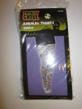 NEW  HALLOWEEN TOTALLY GHOUL ANIMAL -ZEBRA TIGHTS 14+