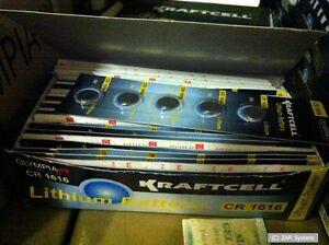 100 x OLYMPIA 3V Knopfzellen CR1616 / CR-1616 / CR 1616 Knopfzelle, Zelle, NEU