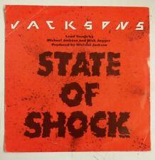 "Jacksons / Mick Jagger State Of Shock Single 7"" Holanda 1984     Michael Jackson"