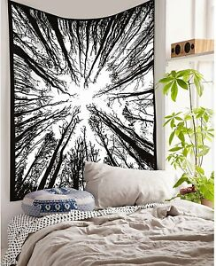 Indian Forest Locust Tree Wall Hanging Tapestries Bedspread Decorative Tapestry