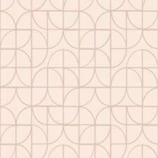 Simétrico Geo Formas Papel Pintado Rosa / Oro Rosa - RASCH 310115 Purpurina