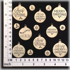 Chipboard Embellishments for Scrapbooking, Cards -Christmas Ornaments 131227bc