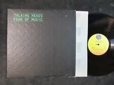 TALKING HEADS Fear of Music ORIGINAL LP/INNER/I Zimbra/David Byrne/Brian Eno NM-