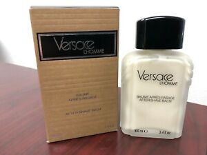 *VINTAGE* VERSACE L'HOMME  by VERSACE 3.4 FL oz / 100 ML After Shave Balm In Box