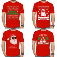 New Mens Merry Christmas Novelty Print T Shirt Funny XMAS Festival T Shirt Top