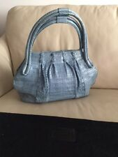 AUTHENTIC NANCY GONZALES  Light Blue Tote Shoulder Handbag