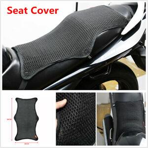 Motorcycle Cushion Seat Cover Net Waterproof Anti-slip Breathable Mesh XL Summer