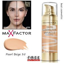 New Max Factor Skin Luminizer Miracle Foundation 35 Pearl Beige Sealed 30ml