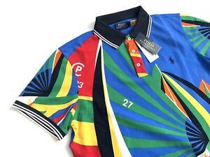 Polo Ralph Lauren Men's 93 Regatta Sailing Boat Multicolor Polo Shirt Sz Large L