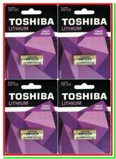 4 Batterie Litio TOSHIBA CR123A Pile DL123 CR17345 CR123 Softair Allarmi Sensori