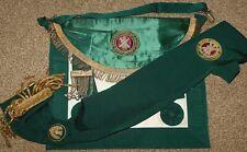 Antique Masonic Grand Lodge Of Scotland Pgl Regalia Apron & Collar
