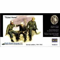 TICKET HOME. INJURED GERMANS 3 FIG. 1/35 MASTER BOX 3552 DE