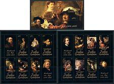 Central Africa Art Rembrandt van Rijn complete MNH stamp set 15 sheets