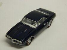 Johnny Lightning 1967 PONTIAC  FIREBIRD 400 Dk Blue Hood Opens Rubber Tires//