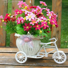 Plastic Tricycle Bike Design Flower Basket Container For HomeWedding DecorationD