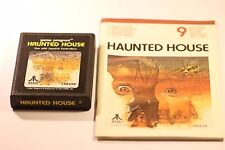 HAUNTED HOUSE  ATARI CX2654 (2600) CARRIAGE GAME  WITH  MANUAL 1981