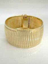 "LADIES 14K YELLOW GOLD SNAKE LINK WIDE STATEMENT BRACELET 1.18"" wide 35.8g 7"""