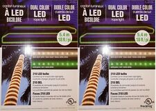 Lot of 2-18 ft.LED Ropelight Dual Color White Green 210 bulbs Christmas FreeShip