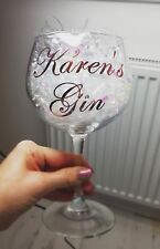 Personalised Gin Glass Balloon Christmas Present Secret Santa Wedding Wine Gift