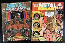 METAL HURLANT - LOT DE 2 N°69 ET 70 - 1981 - ETAT NEUF