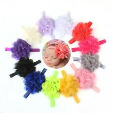 12PC Headband Kids Baby Toddler Elastic Flower Hair Band Photography Headwear E1
