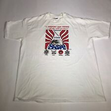Vintage Operation Desert Storm, I Support Our Troops Xl S/S T Shirt [Dg21]