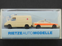 Rietze 16014 Ford Transit Audi A4 2x Red Cross 1:160 New Boxed 1607-17-84