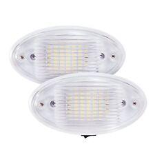 2x LED Ceiling Porch Light Fixture 12V RV Interior Exterior Lighting for Trailer