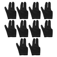 10Pcs Billiard Gloves 3 Fingers Left and Right Hand Glove Snooker Cue Pool GQ1V8