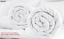 WARM DUVET QUILT. SIZE: SINGLE, DOUBLE AND KING  TOG: 4.5, 10.5, 13.5 AND 15