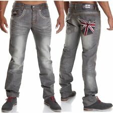 Markenlose distressed Herren-Jeans aus Denim