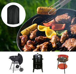 Round Garden Outdoor BBQ Cover Protector Waterproof Patio Smoke grill Gas Smoker