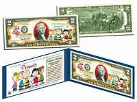 PEANUTS * Charlie Brown & Gang * Legal Tender U.S. $2 Bill * LICENSED * Snoopy