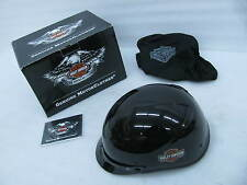 New Harley Davidson 1/2 Helmet Medium Deep Cavity Gloss Black 98283-14VM/000M